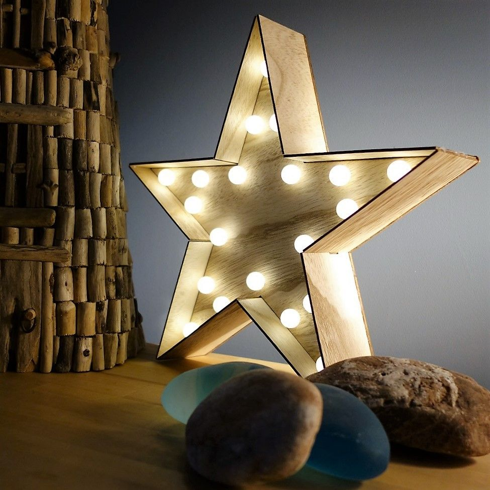 20 Off Gorgeous Large Wooden Star With Led Lights